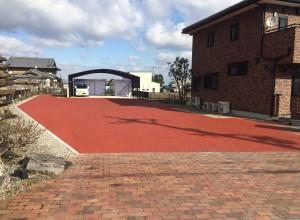奈良県葛城市ベンガラ舗装